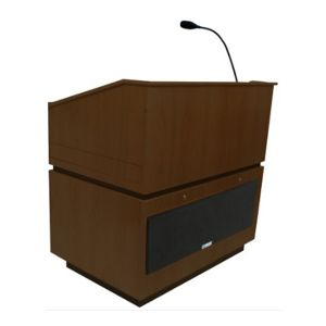 Amplivox Coventry Multimedia Lectern - SS3030-WT
