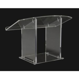 Amplivox Clear Acrylic Tabletop Lectern - SN3085