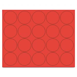 "Mastervision Mag/Circles 3/4"" pk of 20, Red"
