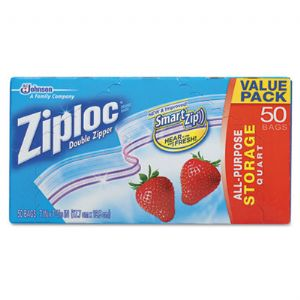 BAG,ZIPLOC,QUART,50CT