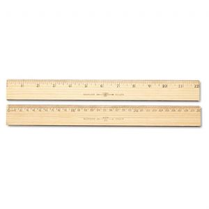 RULER,WOOD,12IN,METRIC&IN