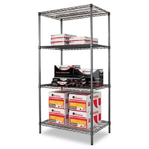 Alera� Black Anthracite Wire Shelving Ki