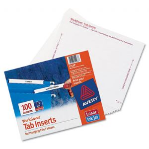 Avery® Tabs Inserts For Hanging File Fol