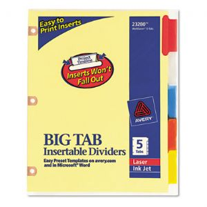 Avery� Reinforced Big Tab� Insertable Pa