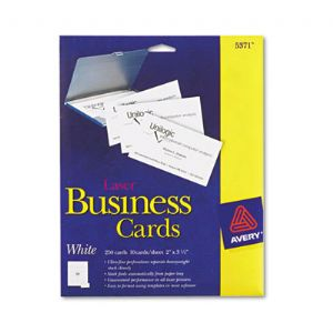 CARD,BUS,LSR,250/PK,WHT