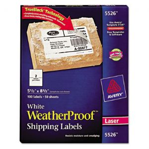 LABEL,WETHRPRF,100/PK,WHT