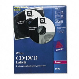 LABEL,LSR CD/DVD 20SH,WHT
