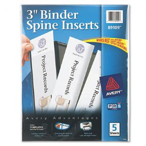 INSERT,SPINE 3 IN,WHT