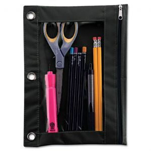 POUCH,PENCIL,BINDER,BK
