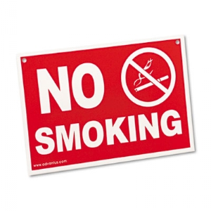 SIGN,NO SMOKING,RD/WHT