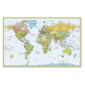 MAP,WALL,LAMINATED,WORLD