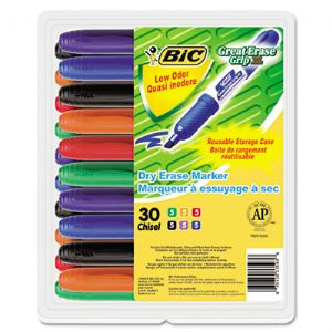 MARKER,DRI ERASE 30PK,AST