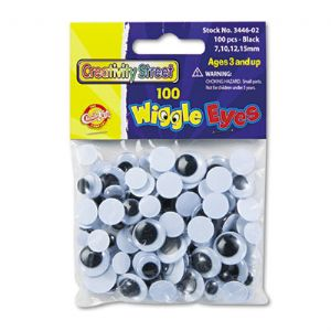 EYES,WIGGLE,100/PK,BK