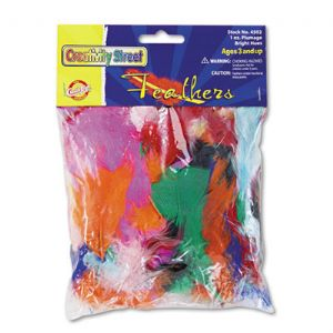 FEATHERS,1 OZ,BRIGHT HUES