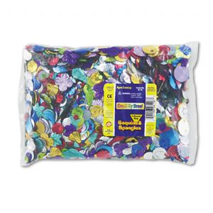 CONFETTI,SEQUINS,1LB,AST