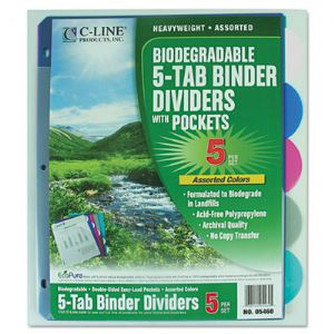 C-Line� Biodegradable Poly Index Divider