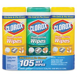 WIPES,CLOROX,3PK/35CT,WH
