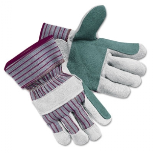 GLOVES,LTHR DBL PLM,LG,GY