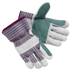 GLOVES,LTHR DBL PLM,XL,GY