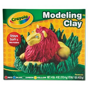 CLAY,MODEL,1/4LBS4PC,AST