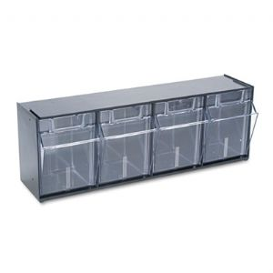 BIN,4 POCKET STORAGE,BK