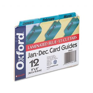 Oxford� Manila Index Card Guides with La