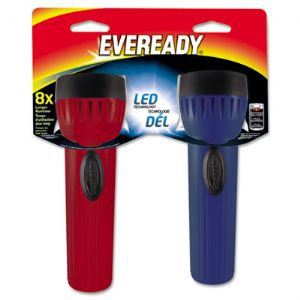 FLASHLIGHT,LED ECON,2/PK