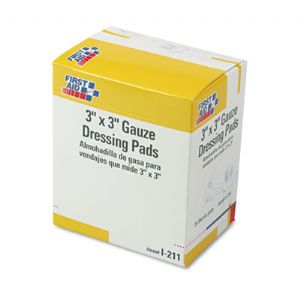 First Aid Only� Gauze Dressing Pads
