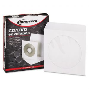 ENVELOPE,CD/DVD,50PK,WHT