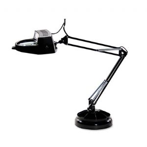 LAMP,DESK,MAGNIFIER,BK