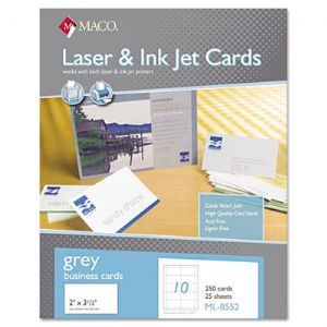CARD,BUSINESS LASER,GY