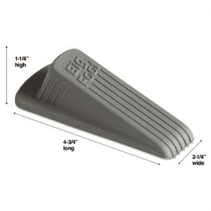 DOORSTOP,N-SKID,1/CD,GY