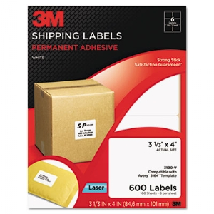 LABEL,31/3X4,SHIP,600,WHT
