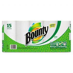 TOWEL,2PLY,BNTY,15/PK,WH