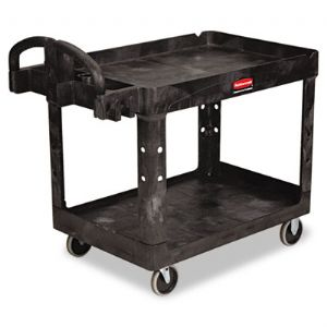 CART,UTILITY, 2 SHELF,BK