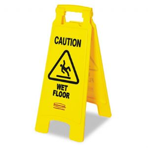 SIGN,CAUTION,WET FLR,YW