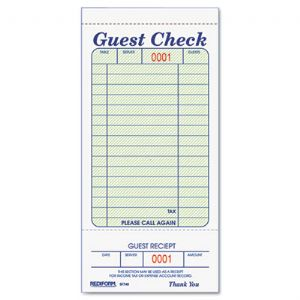 FORM,GUEST CHECK BOOK,WH