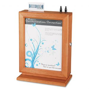 Safco� Customizable Wood Suggestion Box