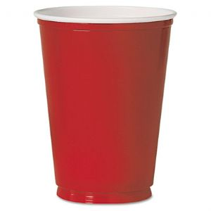 CUP,12 OZ,PLASTIC,50PK,RD