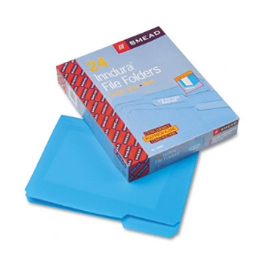Smead� Top Tab Poly Colored File Folders