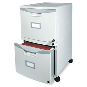 Storex Two-Drawer Mobile Filing Cabinet