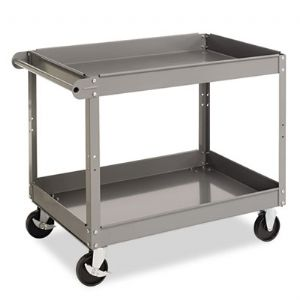 Tennsco Two-Shelf Metal Cart