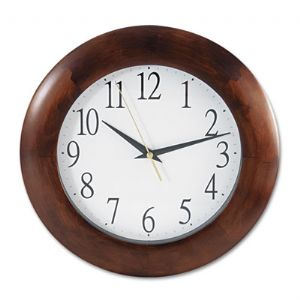 "Universal One� 12-3/4"" Round Wood Clock"