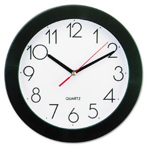 CLOCK,WALL,9.75&quot;,BK