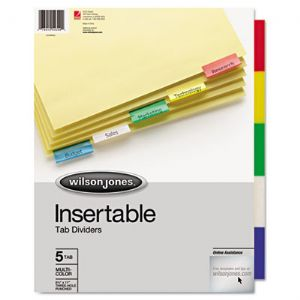 Wilson Jones� Insertable Tab Dividers