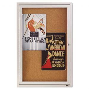 Quartet� Enclosed Indoor Cork Bulletin B