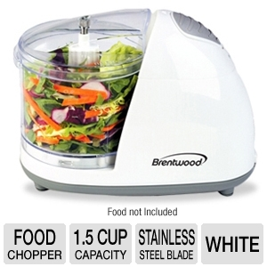 Brentwood MC-101 White Mini Food Chopper