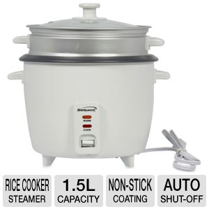Brentwood TS-180S Rice Cooker/Steamer