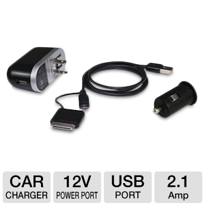 Bracketron Universal USB Travel Charger Kit