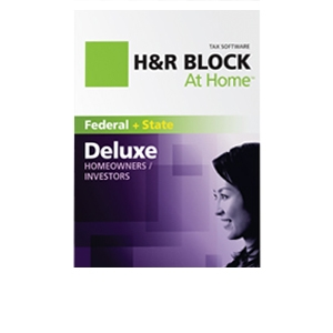 H&R Block At Home Deluxe + State Tax 2011 Software